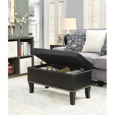Michigan Storage Ottoman Upholstery: Black