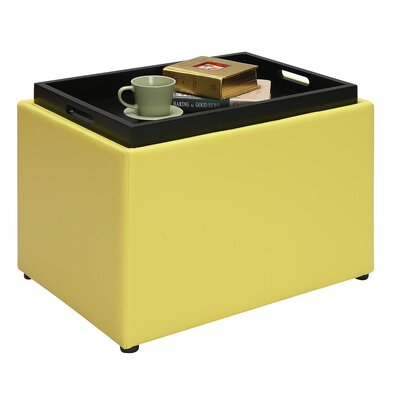 Michigan Accent Storage Ottoman Upholstery: Yellow