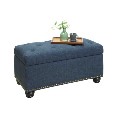 Michigan 7th Avenue Storage Ottoman Upholstery: Blue