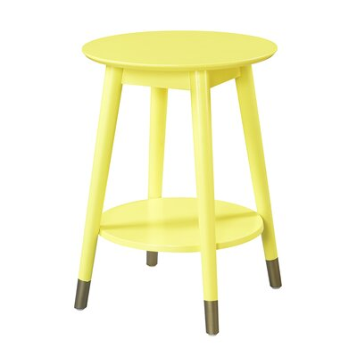 Boese End Table Color: Yellow