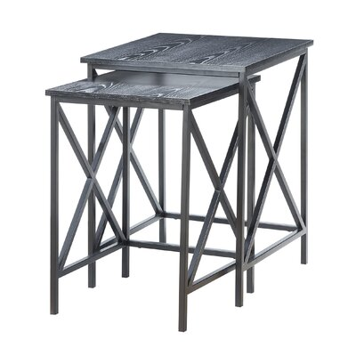 Abbottsmoor 2 Piece Nesting Tables Color: Black
