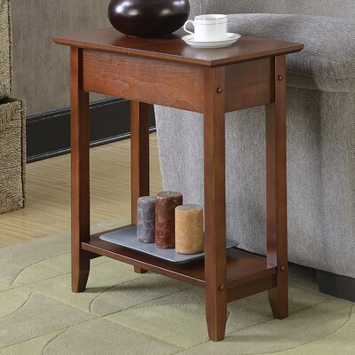 Lucile Flip Top End Table Color: Mahogany