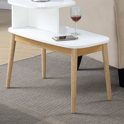 Darcey Mid-Century End Table Finish: Natural/White