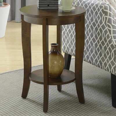 Lucile Round End Table Color: Espresso