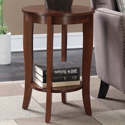 Lucile Round End Table Finish: Mahogany