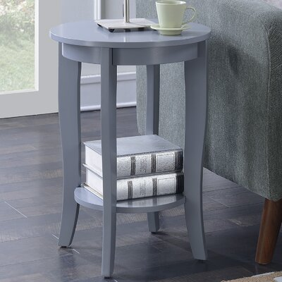 Lucile Round End Table Color: Gray