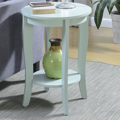 Lucile Round End Table Color: Sea Foam