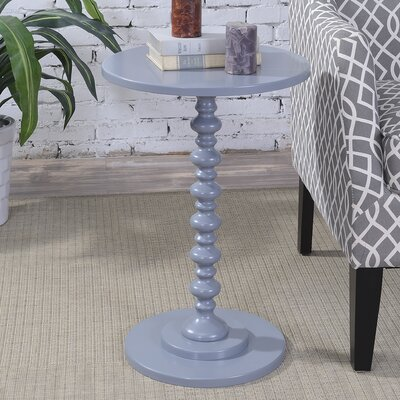 Segera Spindle End Table Finish: Gray