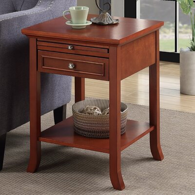 End Table With Storage Color: Cherry
