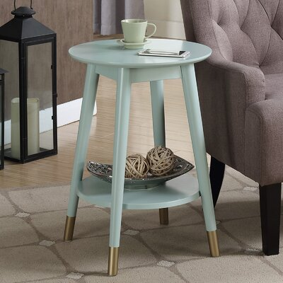 Boese Mid-Century Round End Table Finish: Sea Foam