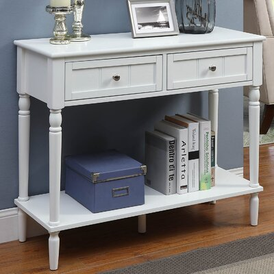 Callery 2 Drawer Console Table Finish: White