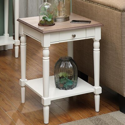 Callery End Table Finish: Driftwood/White