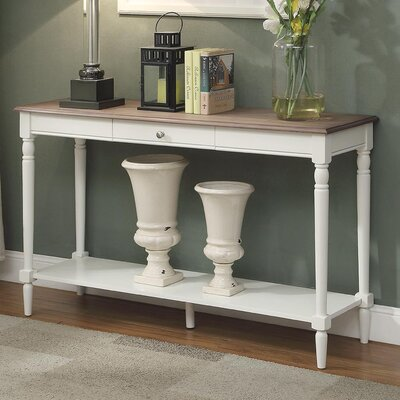 Callery Console Table Finish: Driftwood/White