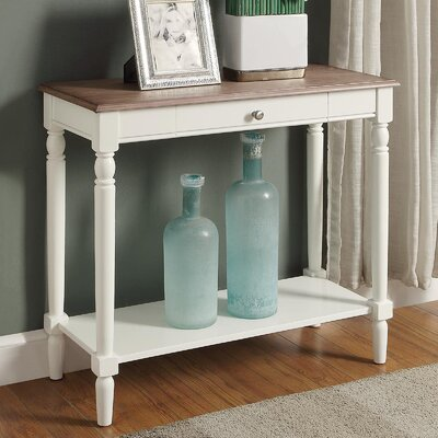 Callery Wood Console Table Finish: Driftwood/White