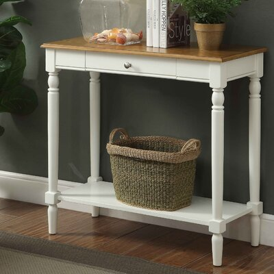 Callery Wood Console Table Finish: Rustic Oak/White