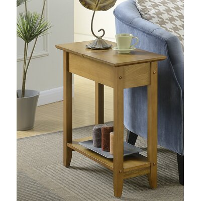 Lucile Flip Top End Table Color: Dark Walnut