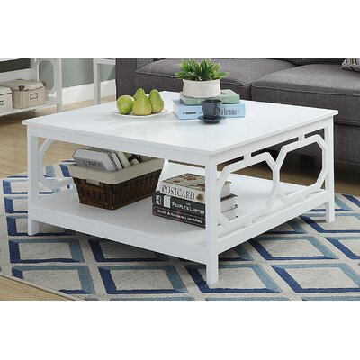 Country Walk Square Coffee Table Finish: White