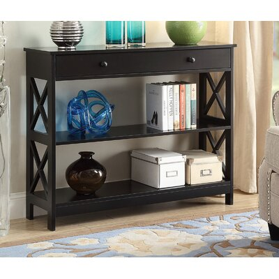 Cataleya 1 Drawer Console Table Finish: Black