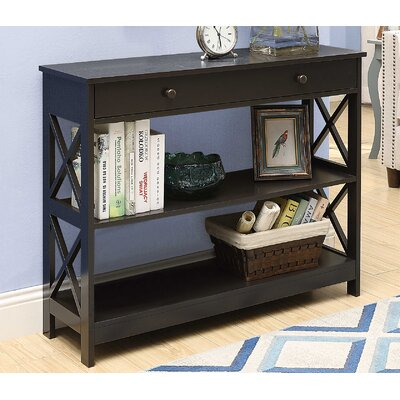 Cataleya 1 Drawer Console Table Finish: Espresso
