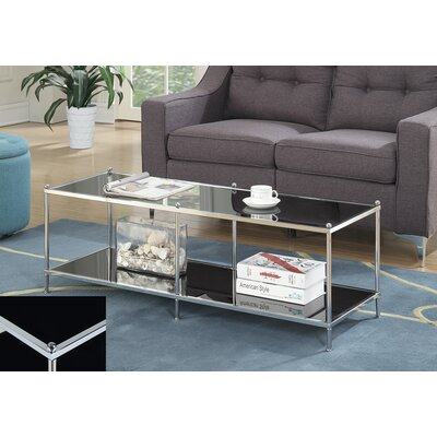 Rigsby Coffee Table with Storage Color: Black