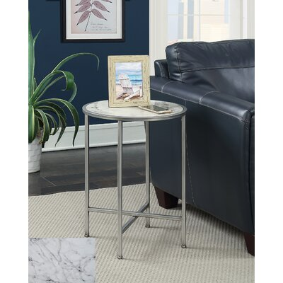 Claybrooks Modern Round End Table Color: Silver