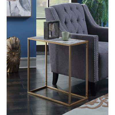 Roark End Table Color: Gold