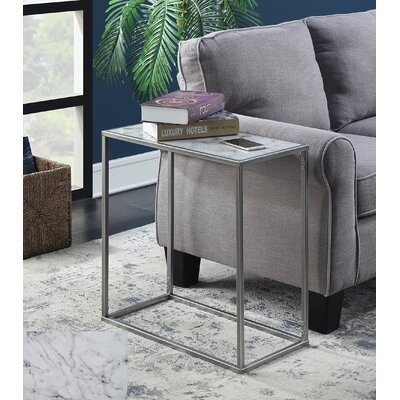 Roark End Table Color: Silver