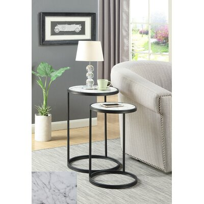 Claybrooks Nesting Tables Color: Black