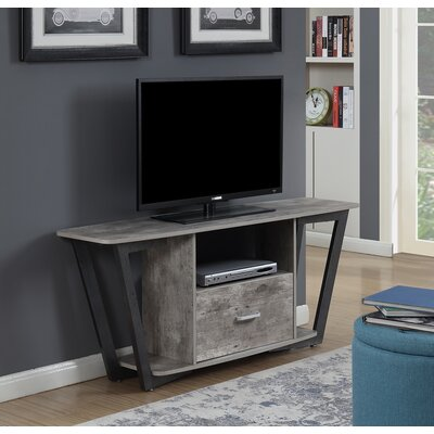 Andujar 60 TV Stand Color: Gray/Black