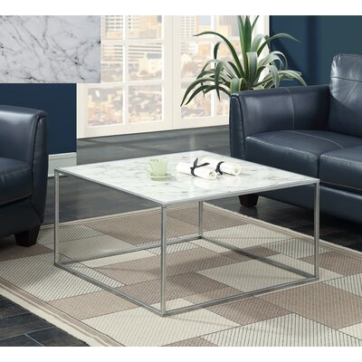 Theydon Coffee Table Color: White/Silver