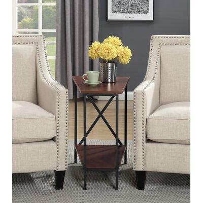 Steuben Wedge End Table Color: Black/Cherry