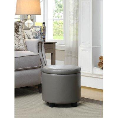 Garonzik Round Accent Storage Ottoman Upholstery: Gray