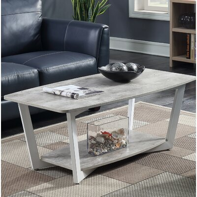 Anissa Coffee Table with Magazine Rack Finish: Gray/White