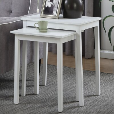 Williams 2 Piece Nesting Tables Finish: White