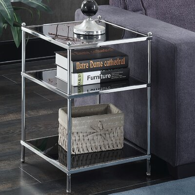 Rigsby End Table with Storage Color: Black