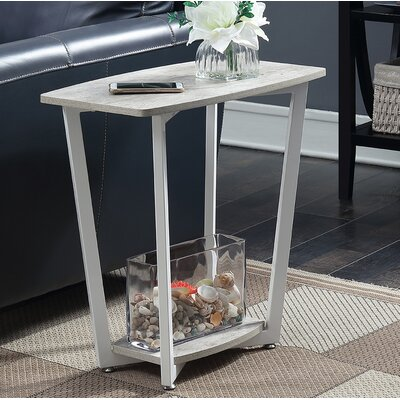 Duval End Table Finish: Gray/White