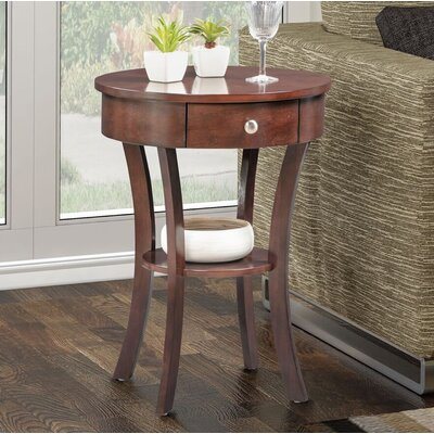 Bower Classic Accents End Table with Storage Color: Espresso