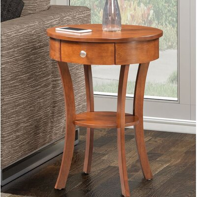Moravian Classic Accents End Table with Storage Color: Chestnut