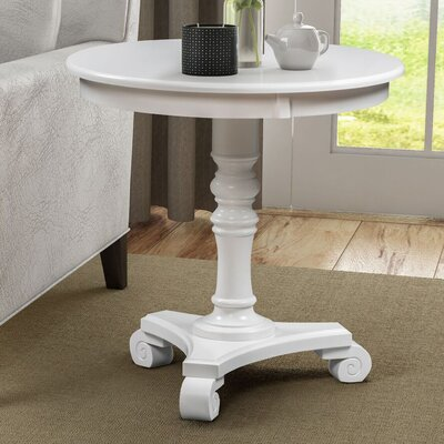 Bower Classic Accents End Table Color: White