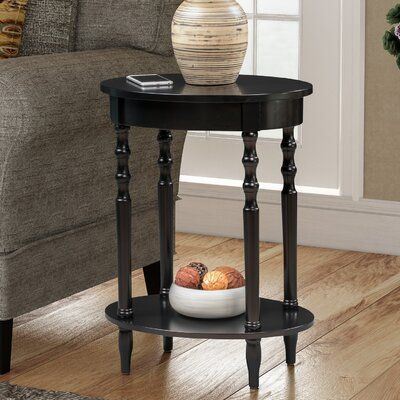 Bower Classic Accents Oval Tray Table Color: Black