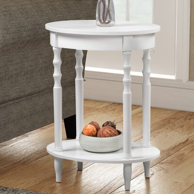 Moravian Classic Accents Oval Tray Table Color: White