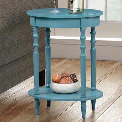 Moravian Classic Accents Oval Tray Table Color: Blue