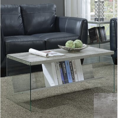 Calorafield Coffee Table With Storage Color: Faux Birch