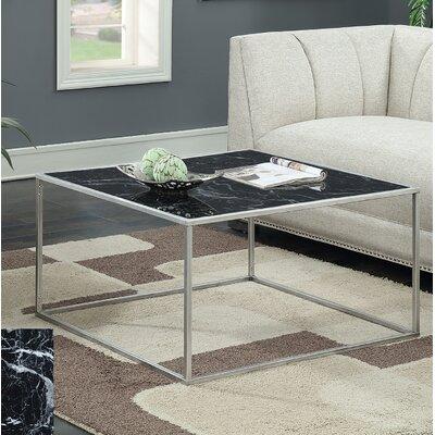 Theydon Coffee Table Color: Black/Silver