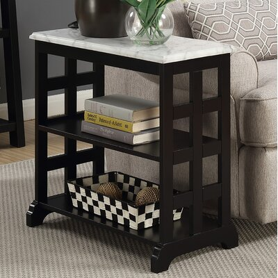 Pennels End Table Color: Black