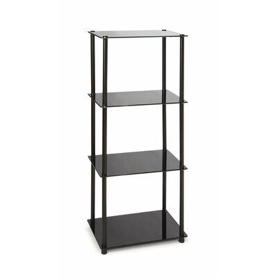 Cheap Convenience Concepts Midnight 4 Tier Tower in Black (CVC1115)