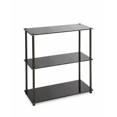 Cheap Convenience Concepts Midnight 3 Shelf Bookcase in Black (CVC1116)