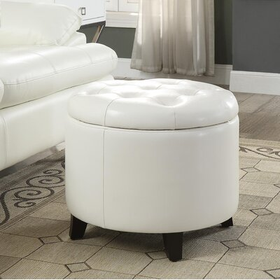 Standard Ottoman Upholstery: White Leather