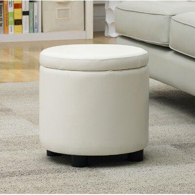 Garonzik Storage Ottoman Upholstery: White