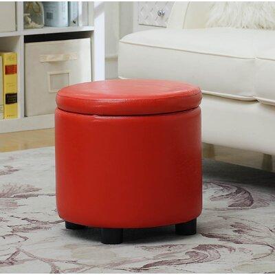Garonzik Storage Ottoman Upholstery: Red